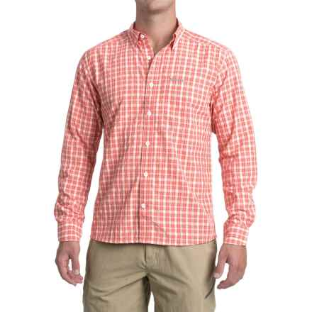 Simms Morada Shirt - UPF 30+, Long Sleeve (For Men) in Dark Coral Plaid - Closeouts