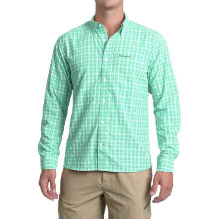 Simms Morada Shirt - UPF 30+, Long Sleeve (For Men) in Mint Plaid - Closeouts