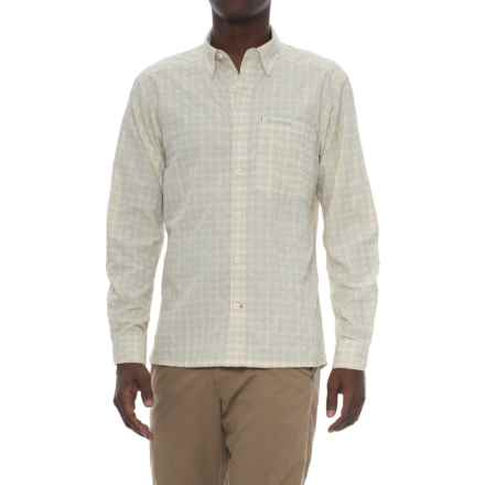 Simms Morada Shirt - UPF 30+, Long Sleeve (For Men) in Pale Khaki Plaid - Closeouts