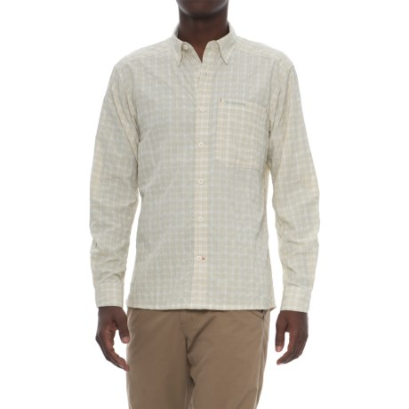 Simms Morada Shirt - UPF 30+, Long Sleeve (For Men) in Pale Khaki Plaid