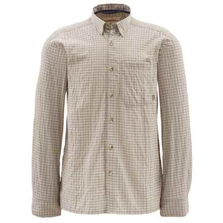 Simms Morada Shirt - UPF 30+, Long Sleeve (For Men) in Stone Plaid - Closeouts