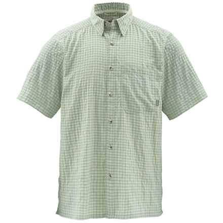 Simms Morada Shirt - UPF 30+, Short Sleeve (For Men) in Turtle Grass Plaid - Closeouts