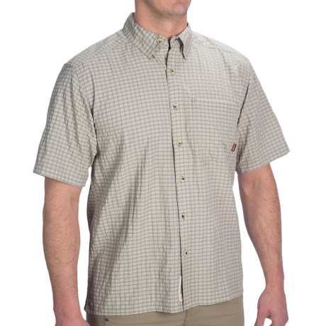 Simms Morada Shirt - UPF 50+, Short Sleeve (For Men) in Stone Plaid