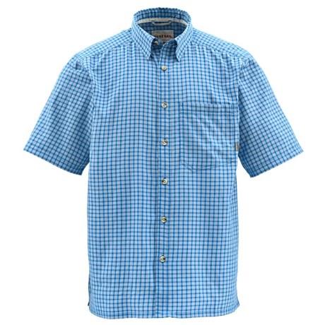 Simms Morada Shirt - UPF 50+, Short Sleeve (For Men) in Tidal Blue Plaid