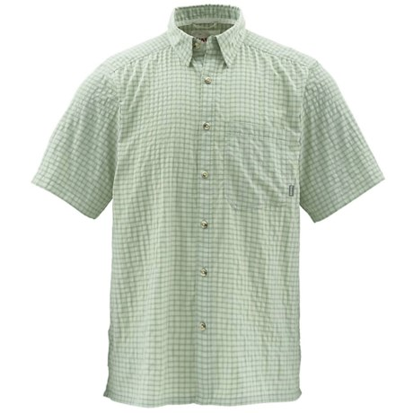 Simms Morada Shirt - UPF 50+, Short Sleeve (For Men) in Turtle Grass Plaid