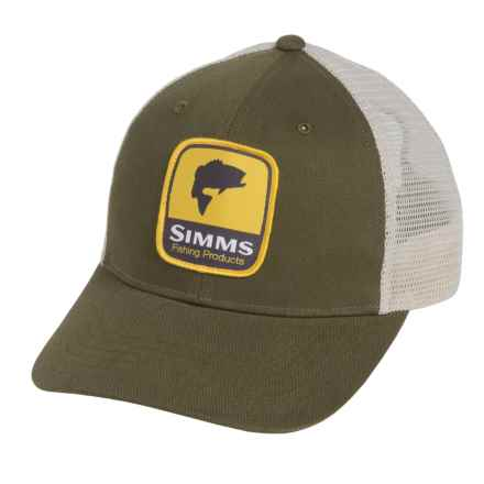 Simms Patch Trucker Cap in Combine Bass Forest - Closeouts