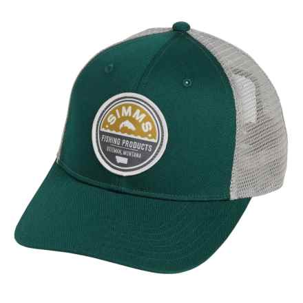 Simms Patch Trucker Cap in Vintage Trout Juniper - Closeouts