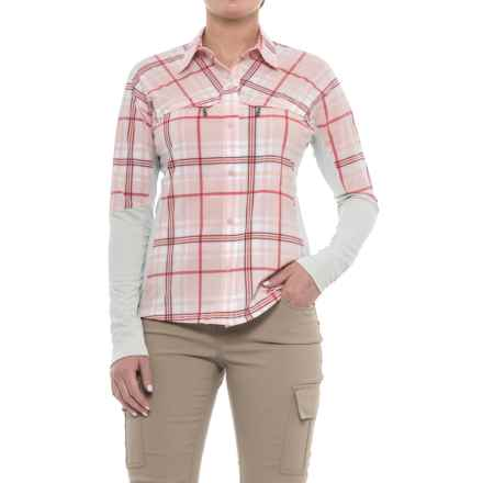 Simms Pro Reina Shirt - UPF 20+, Long Sleeve (For Women) in Chalk Pink Plaid - Closeouts