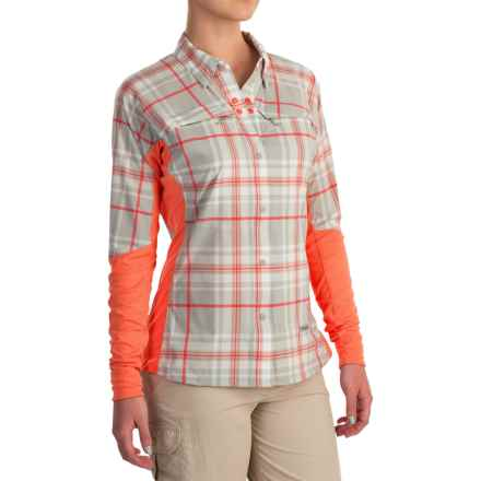 Simms Pro Reina Shirt - UPF 20+, Long Sleeve (For Women) in Coral Plaid - Closeouts
