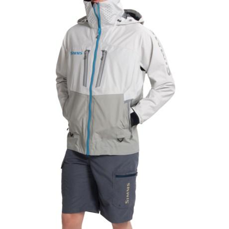 Simms prodry gore tex rain suit fishing jacket size l for Fishing rain suits