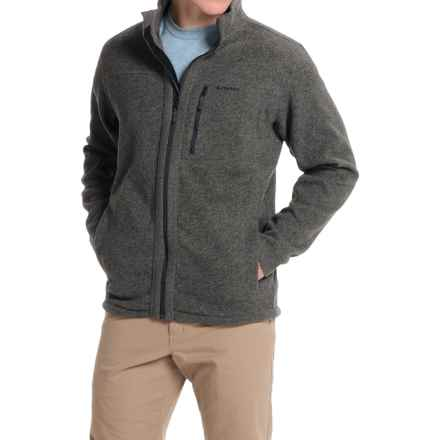 Simms Rivershed Sweater Jacket - UPF 30, Full Zip (For Men) in Dark Shadow - Closeouts