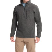 Simms Rivershed Sweater - UPF 30, Zip Neck (For Men) in Dark Shadow - Closeouts