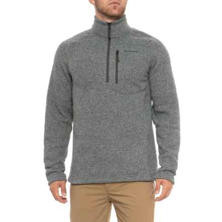 Simms Rivershed Sweater - Zip Neck (For Men) in Smoke - Closeouts