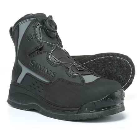 Simms Rivertek 2 Boa Felt Wading Boots (For Men) in Black - Closeouts