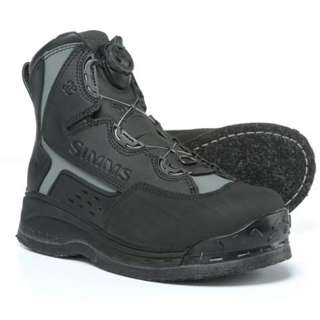 Simms Rivertek 2 Boa Felt Wading Boots (For Men) in Black