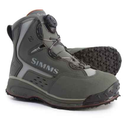 Simms Rivertek 2 Boa Wading Boots - Rubber Sole (For Men) in Gunmetal - Closeouts