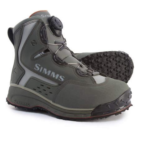 Simms Rivertek 2 Boa Wading Boots - Rubber Sole (For Men) in Gunmetal
