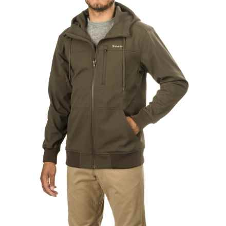 Simms Rogue Fleece Hoodie Sweatshirt (For Men) in Dark Olive - Closeouts
