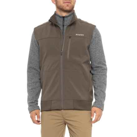 Simms Rogue Fleece Vest (For Men) in Hickory - Closeouts