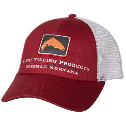 80700e55edb49 Simms Small Fit Trucker Hat (For Men and Women) in Rusty Red