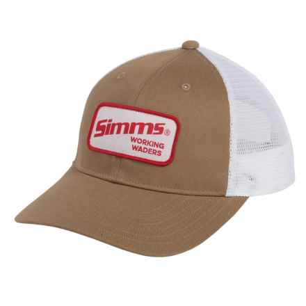 Simms Small Patch Trucker Hat (For Men and Women) in Working Waders Coffee - Closeouts