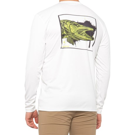Details about  /Simms Solar Tech T-Shirt UPF 30 Long Sleeve Rising Trout Sterling  LARGE