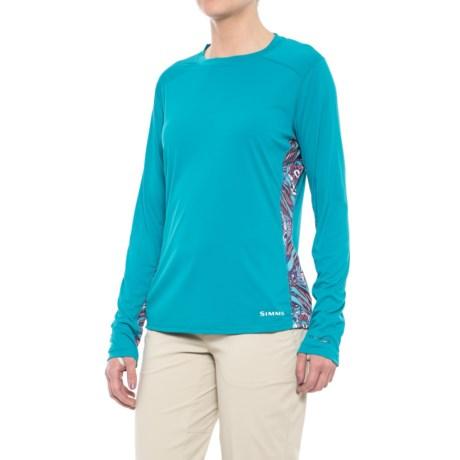 Simms Solarflex Artist Series Shirt - UPF 50+, Long Sleeve (For Women) in Larko Permit Lagoon