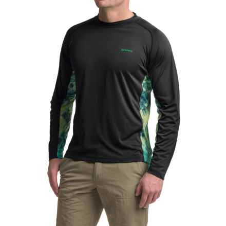 Simms Solarflex Crew Neck Artist Series Shirt - UPF 50+, Long Sleeve (For Men) in Deyoung Bass Black - Closeouts