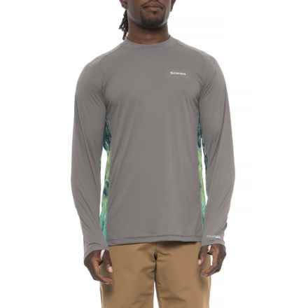 Simms Solarflex Crew Neck Artist Series Shirt - UPF 50+, Long Sleeve (For Men) in Deyoung Bass Pewter - Closeouts