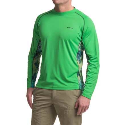 Simms Solarflex Crew Neck Artist Series Shirt - UPF 50+, Long Sleeve (For Men) in Deyoung Bass Shamrock - Closeouts
