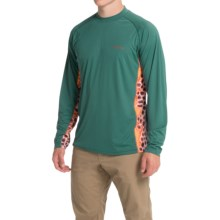 Simms Solarflex Crew Neck Artist Series Shirt - UPF 50+, Long Sleeve (For Men) in Deyoung Trout Juniper - Closeouts