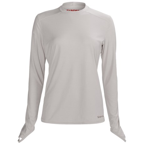 Simms Solarflex Crew Shirt - Long Sleeve (For Women) in Grey