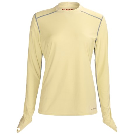 Simms Solarflex Crew Shirt - Long Sleeve (For Women) in Sandbar