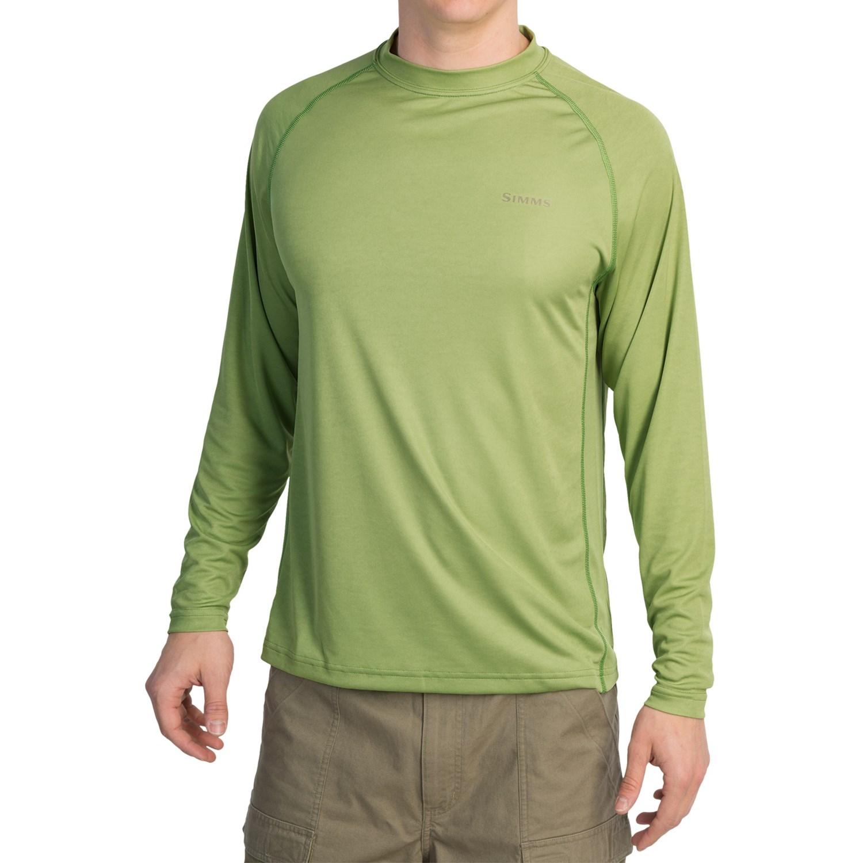 Simms solarflex crew shirt upf 30 long sleeve for men for Men s upf long sleeve shirt