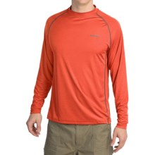 Simms Solarflex Crew Shirt - UPF 50+, Long Sleeve (For Men) in Chili - Closeouts