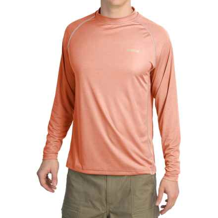 Simms Solarflex Crew Shirt - UPF 50+, Long Sleeve (For Men) in Dusty Orange - Closeouts