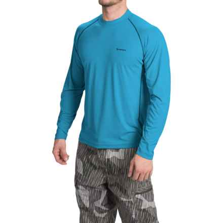 Simms Solarflex Crew Shirt - UPF 50+, Long Sleeve (For Men) in Electric Blue - Closeouts