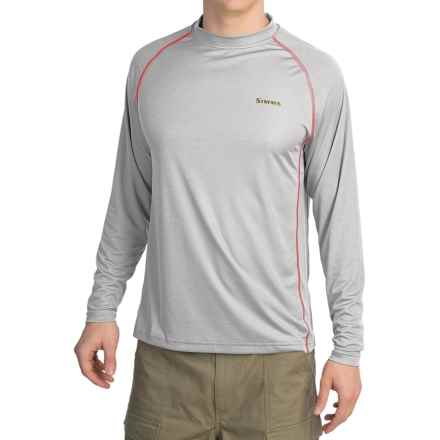 Simms Solarflex Crew Shirt - UPF 50+, Long Sleeve (For Men) in Grey - Closeouts
