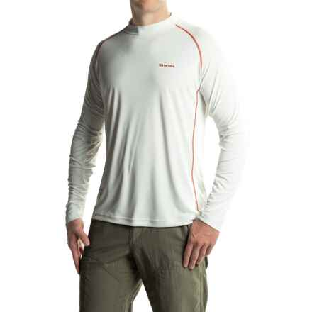 Simms Solarflex Crew Shirt - UPF 50+, Long Sleeve (For Men) in White W/Red Contrasting Stich - Closeouts