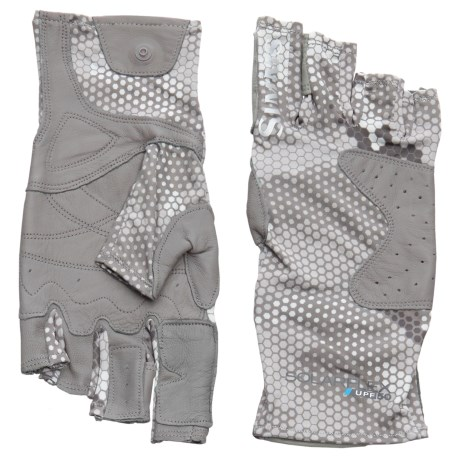 Simms Solarflex Guide Gloves - UPF 50 (For Men) in Hex Camo Boulder