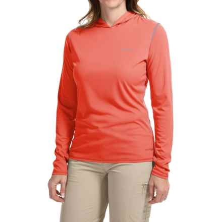 Simms SolarFlex Hoodie Shirt - UPF 50+, Long Sleeve (For Women) in Coral - Closeouts
