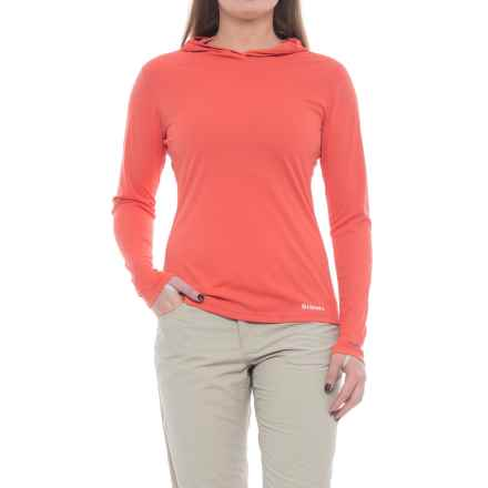 Simms SolarFlex Hoodie Shirt - UPF 50+, Long Sleeve (For Women) in Dark Coral - Closeouts