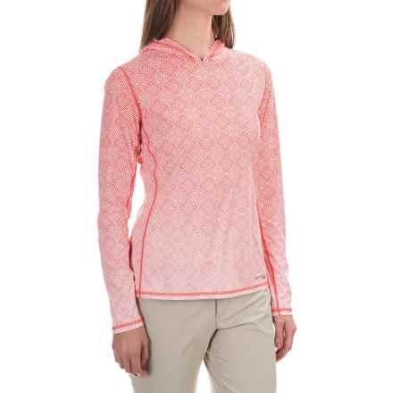 Simms SolarFlex Hoodie Shirt - UPF 50+, Long Sleeve (For Women) in Geo Fade Blossom - Closeouts