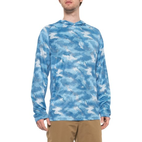 e5e6dbc75 Simms SolarFlex Print Hooded Shirt - UPF 50 (For Men) in Hex Camo Sky