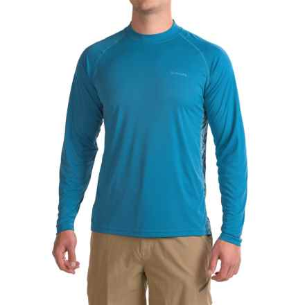 Simms Solarflex Shirt - UPF 30+, Long Sleeve (For Men) in Tri Geo Current - Closeouts