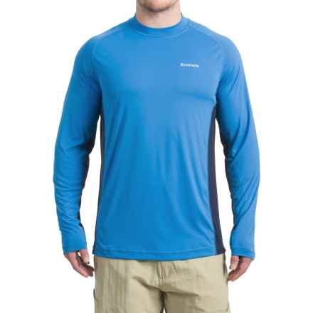 Simms SolarFlex® Shirt - UPF 50+, Long Sleeve (For Men) in Blue Harbor - Closeouts