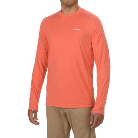 Simms SolarFlex® Shirt - UPF 50+, Long Sleeve (For Men) in Dark Coral - Closeouts