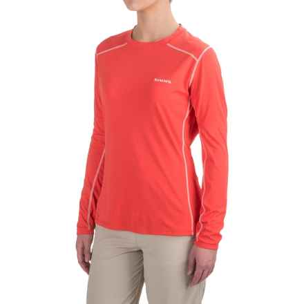 Simms SolarFlex Shirt - UPF 50+, Long Sleeve  (For Women) in Blossom - Closeouts