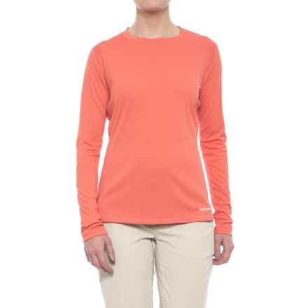 Simms SolarFlex Shirt - UPF 50+, Long Sleeve  (For Women) in Dark Coral - Closeouts