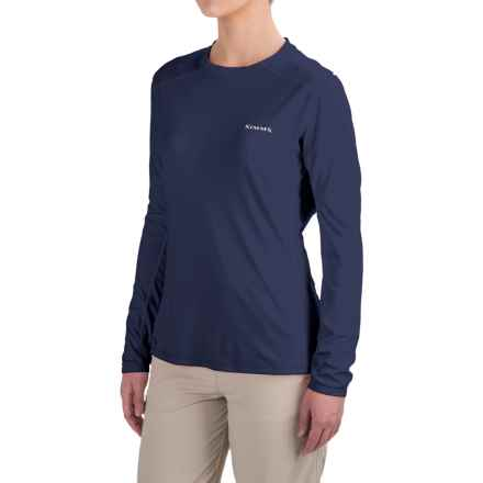 Simms SolarFlex Shirt - UPF 50+, Long Sleeve  (For Women) in Oxford Blue - Closeouts